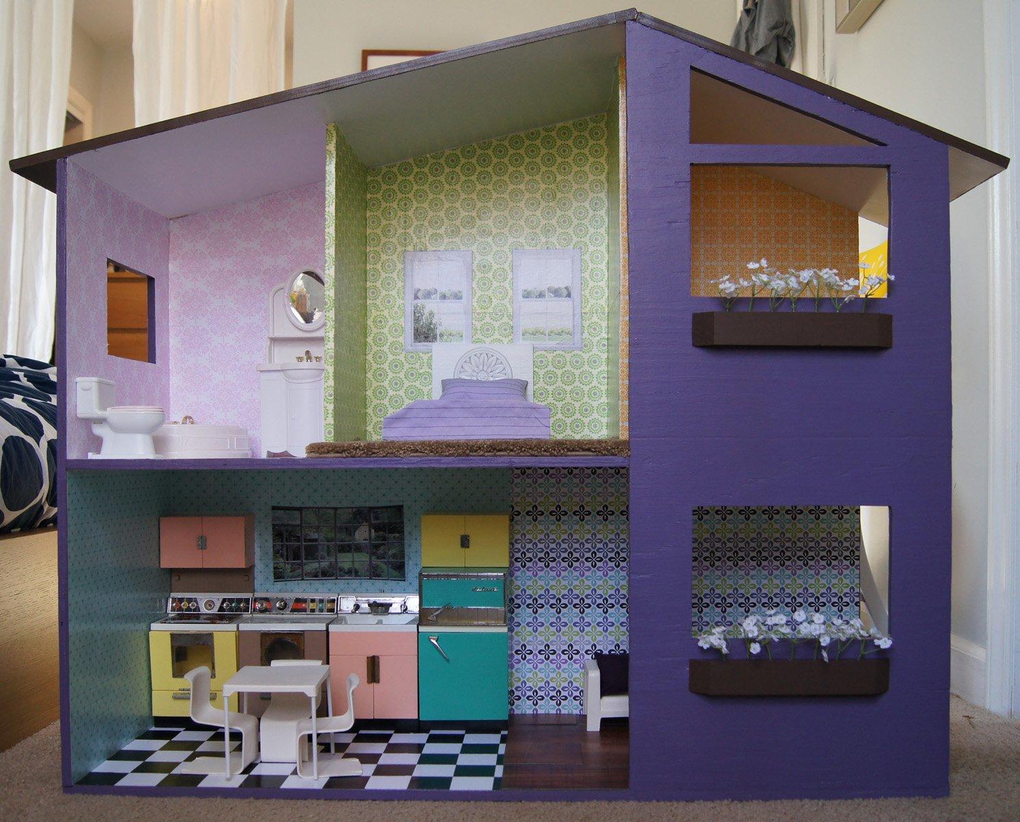 Картонная мебель для кукольного домика
