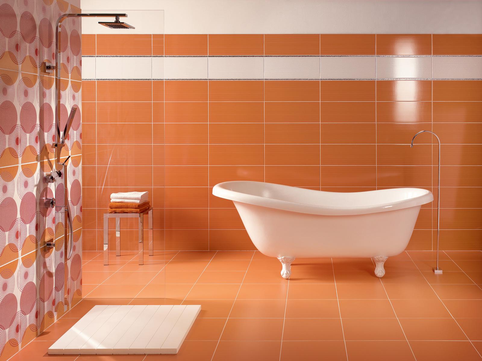 Керамическая оранжевая плитка