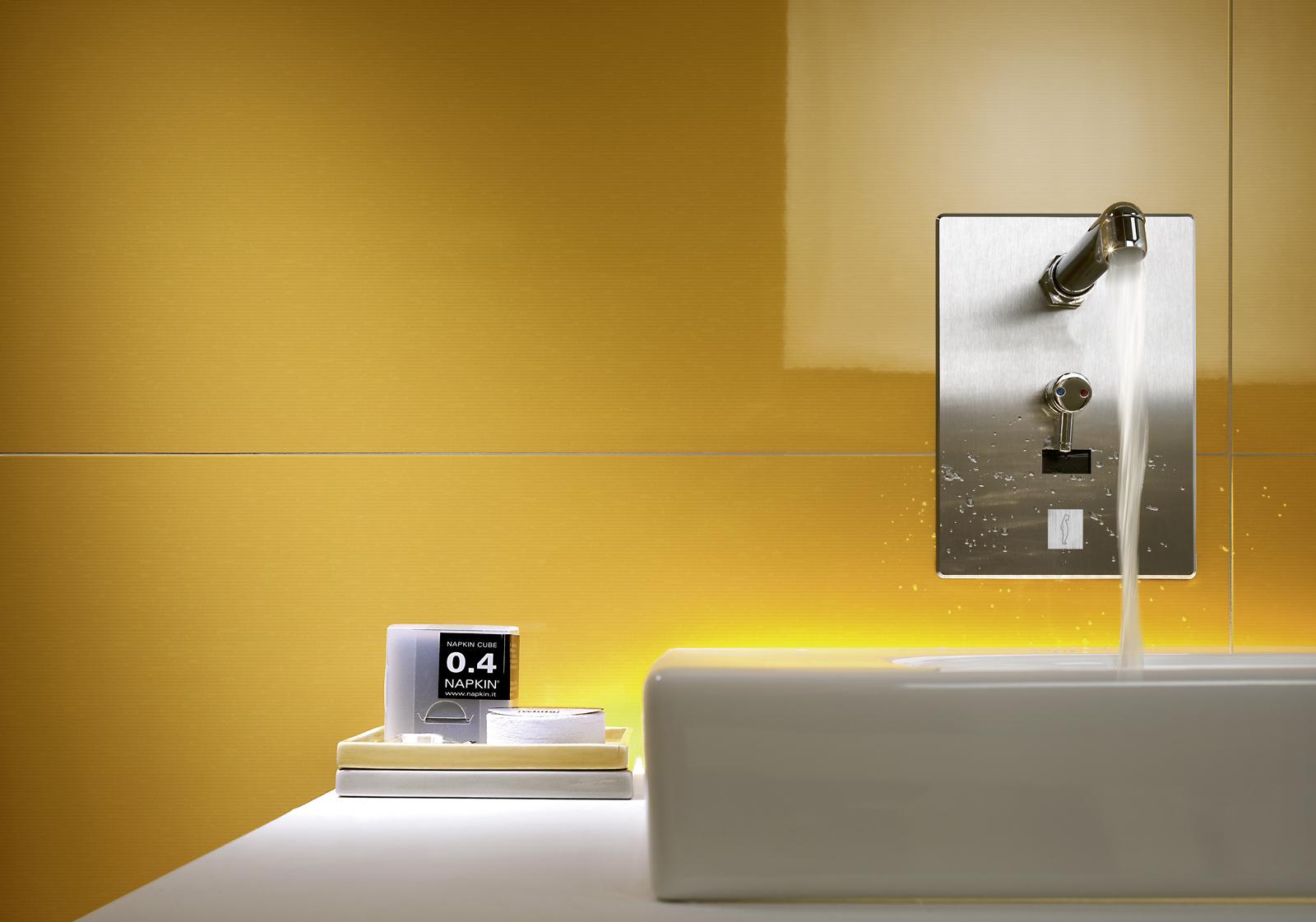 Желтая плитка из керамогранита