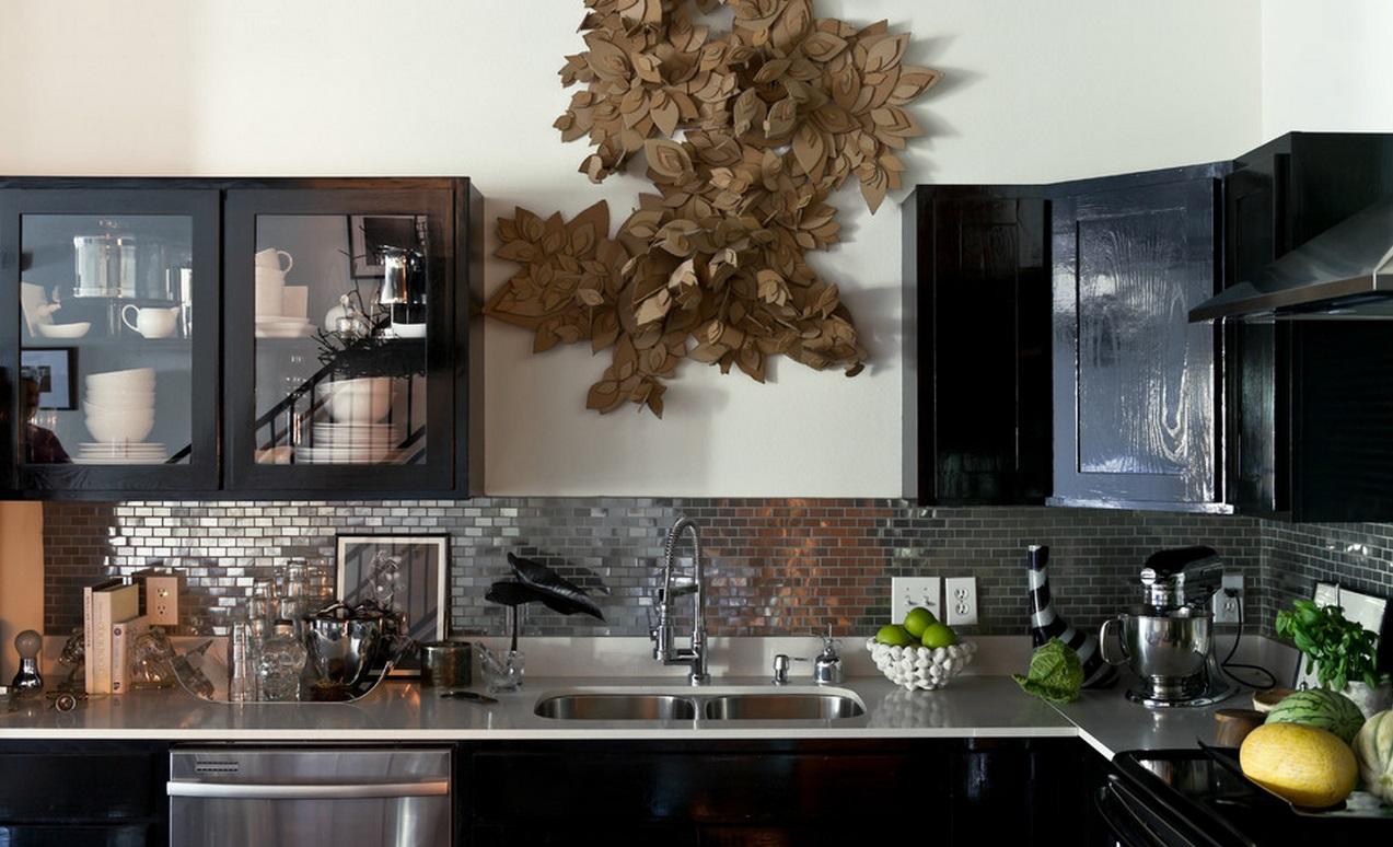 Мозаика-кирпич в интерьере кухни