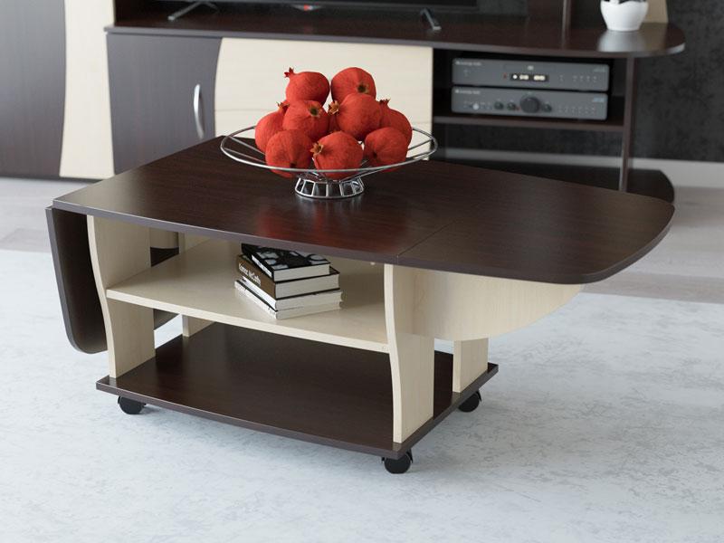 Журнальный столик-книжка на колесиках