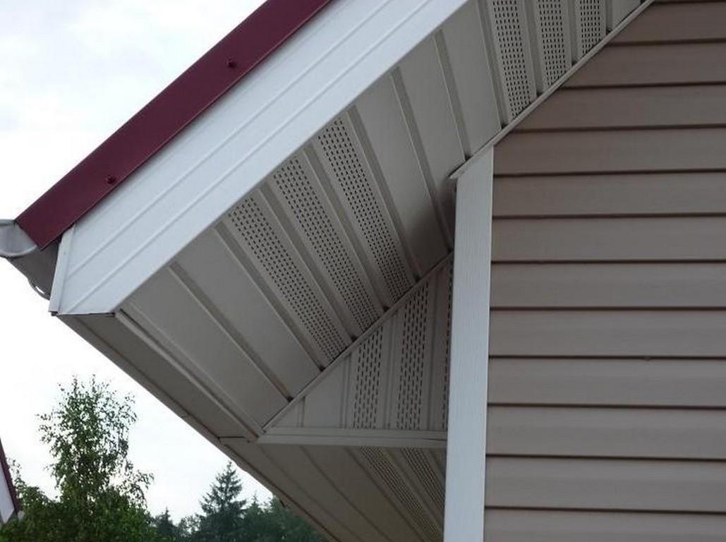 Комбинирование софитов в подшивке крыши