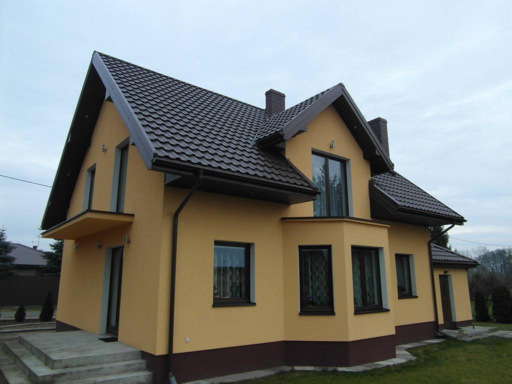 Коричневые софиты для крыши