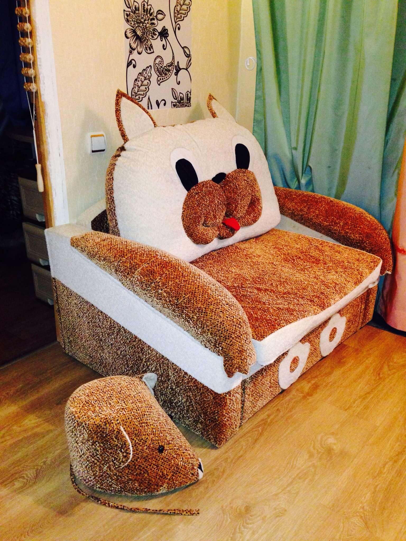 Детское кресло-кровать в виде кота