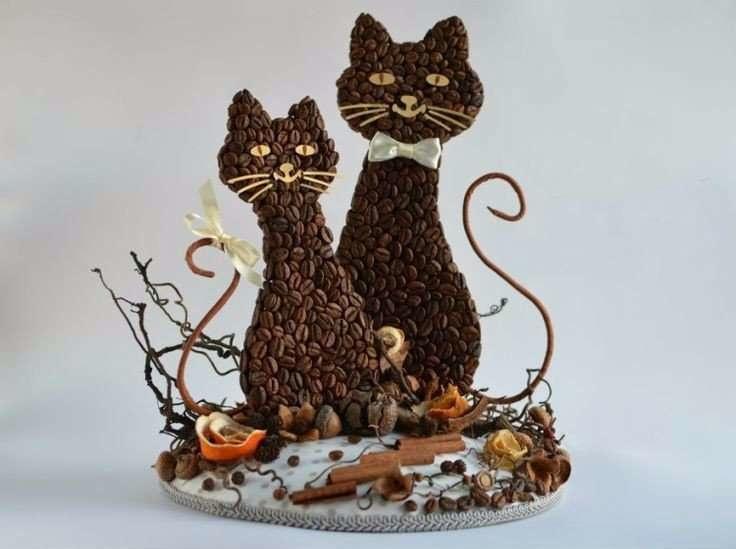 Коты из кофе