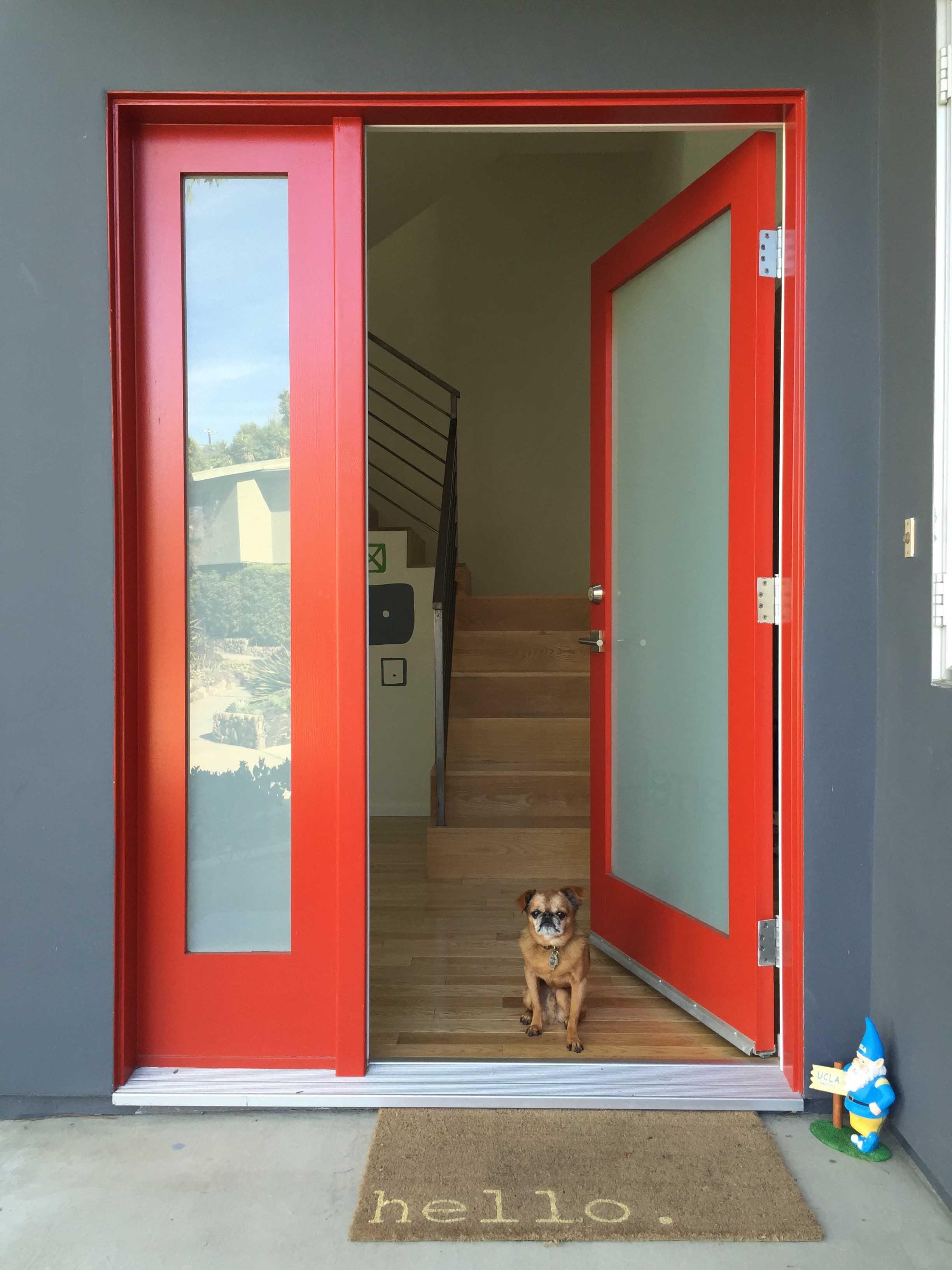 Красная дверь в стиле модерн