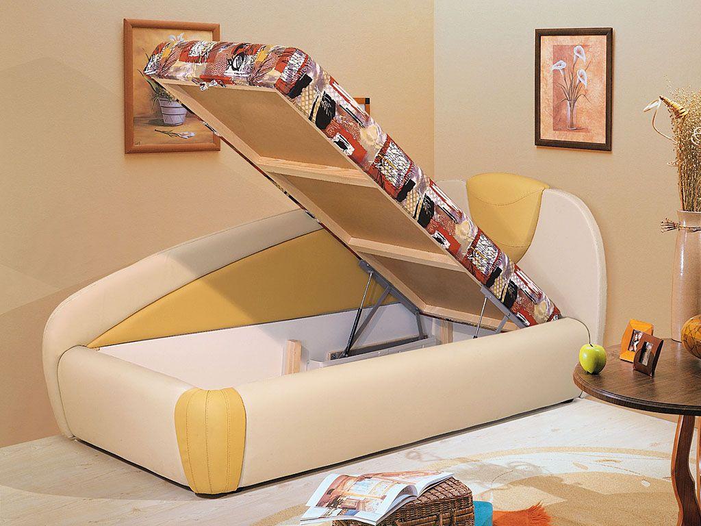 Детская кровать с ящиком для белья