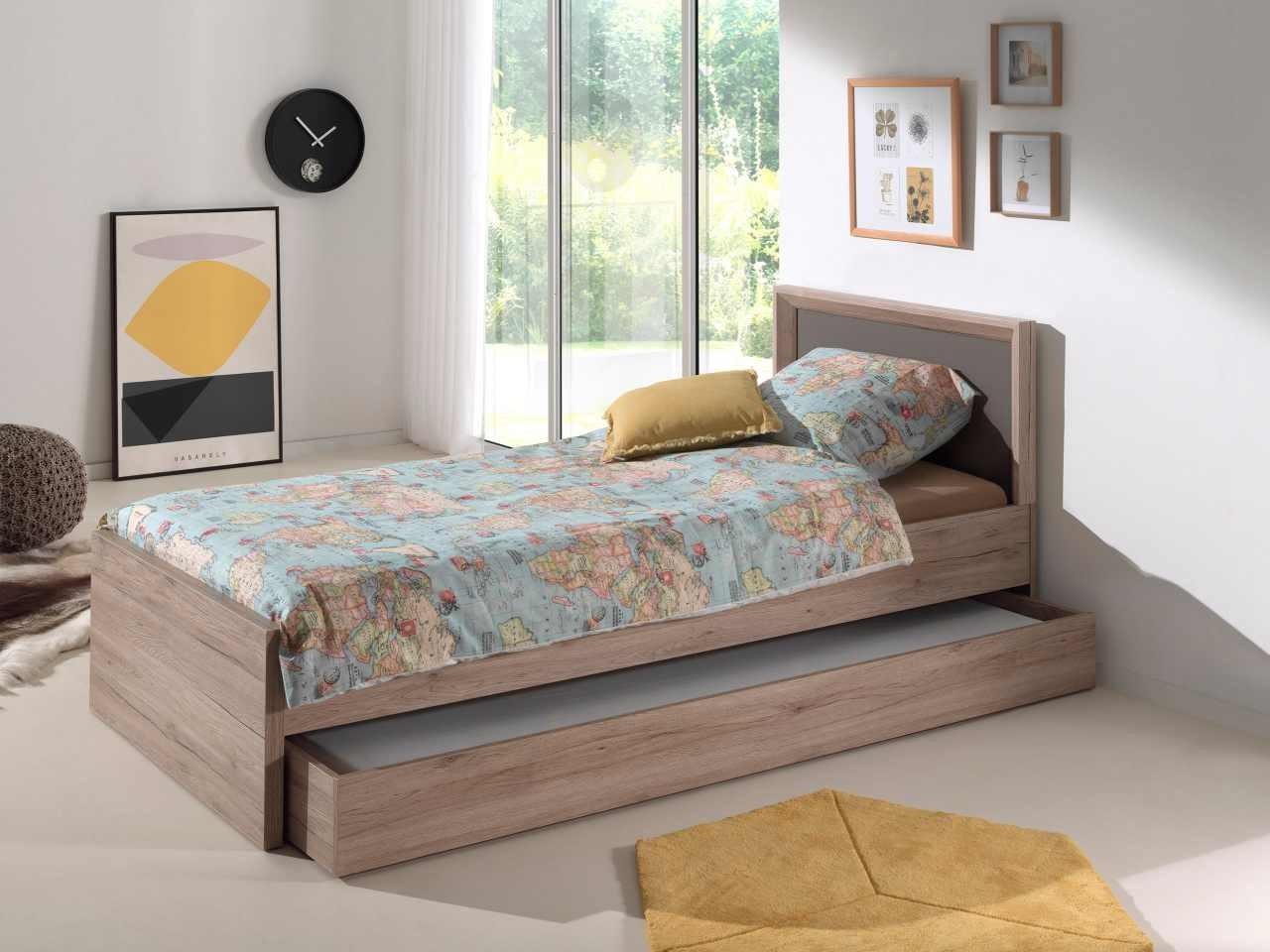 Кровать дуб сонома