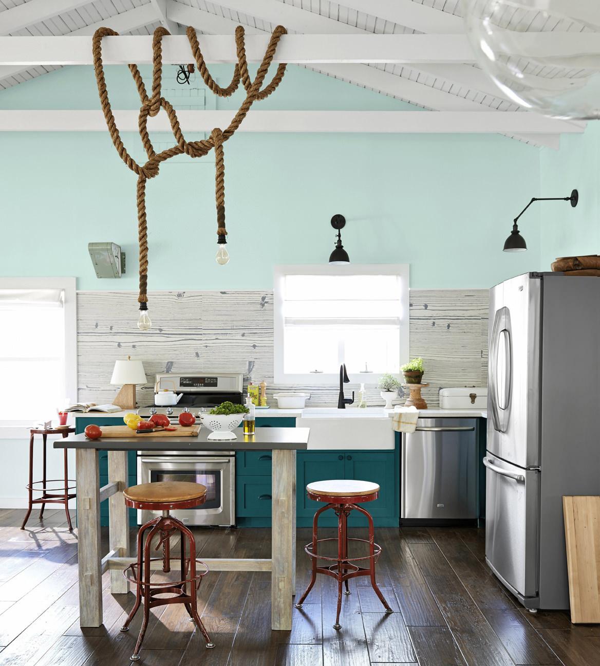 Декоративный канат в интерьере кухни