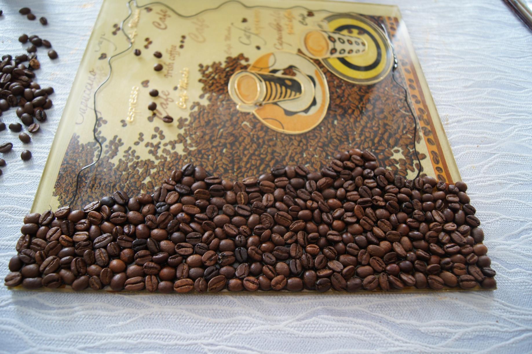 Панно из кофе для кухни