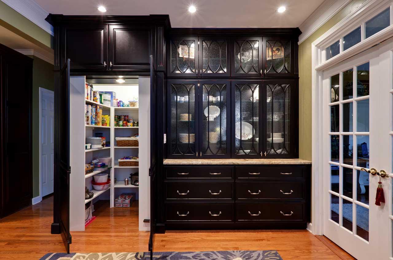 Дизайн кладовки на кухне