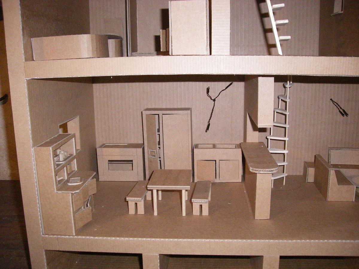 Кухонная мебель из картона игрушечная