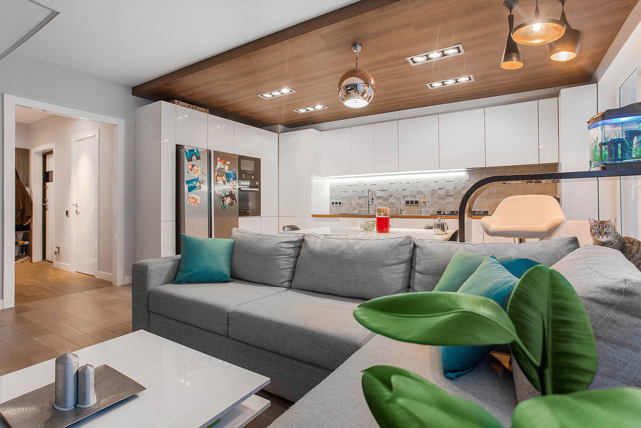 Ламинат на потолке в квартире