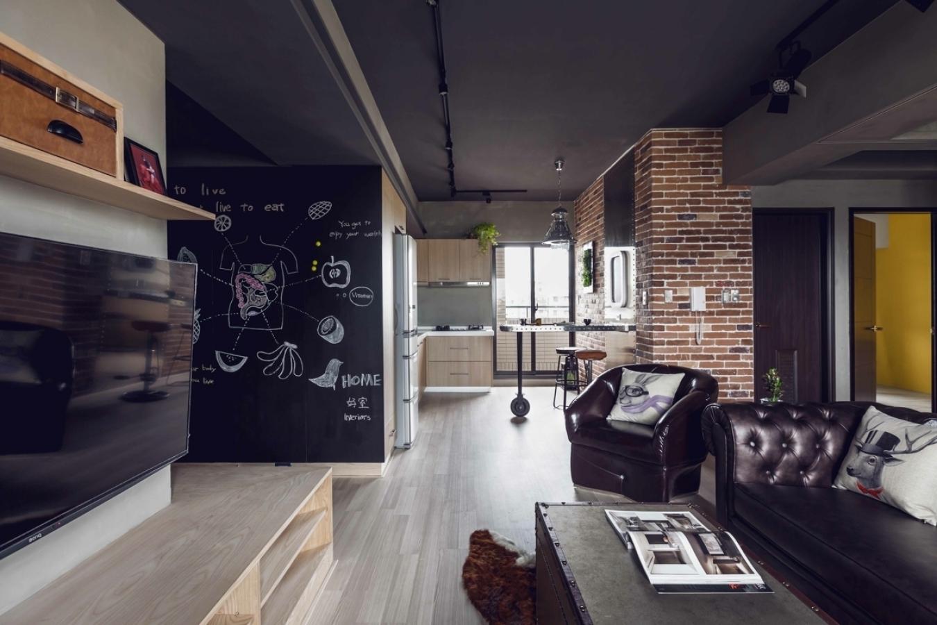 Меловая доска в интерьере квартиры