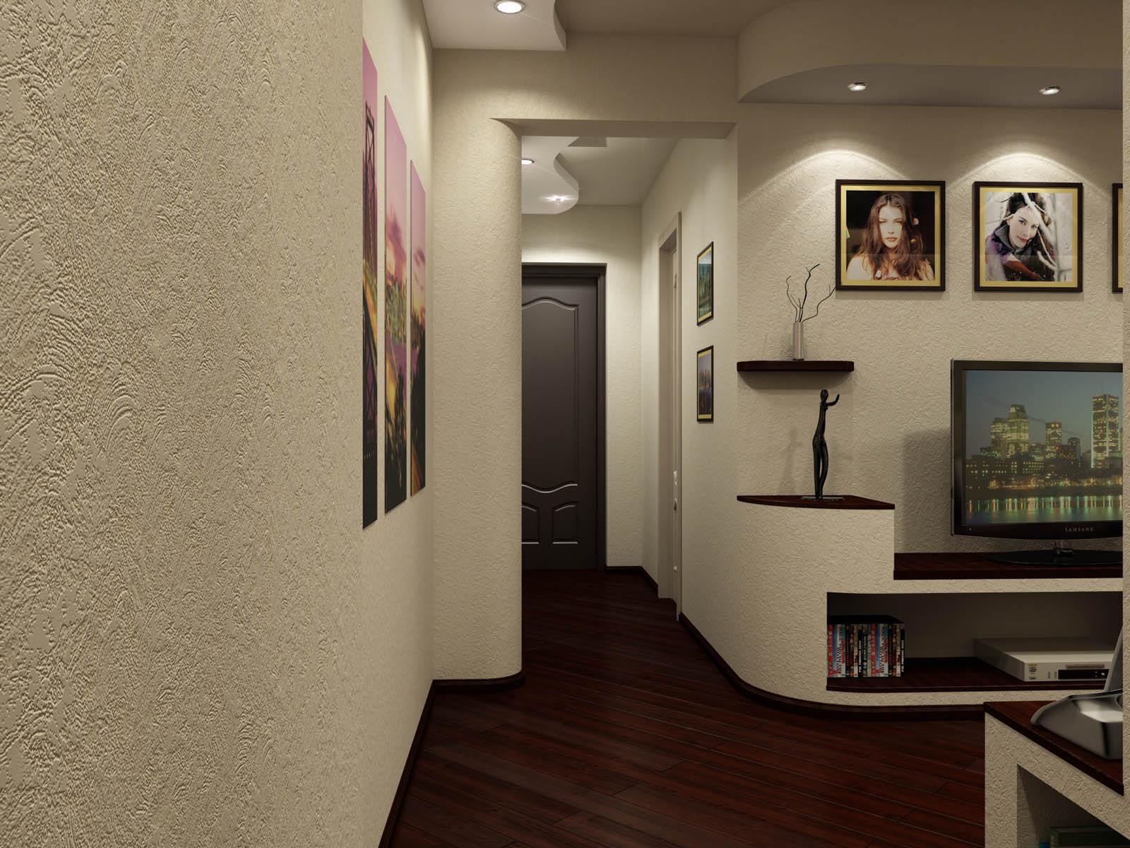 Декоративная штукатурка в коридоре квартиры