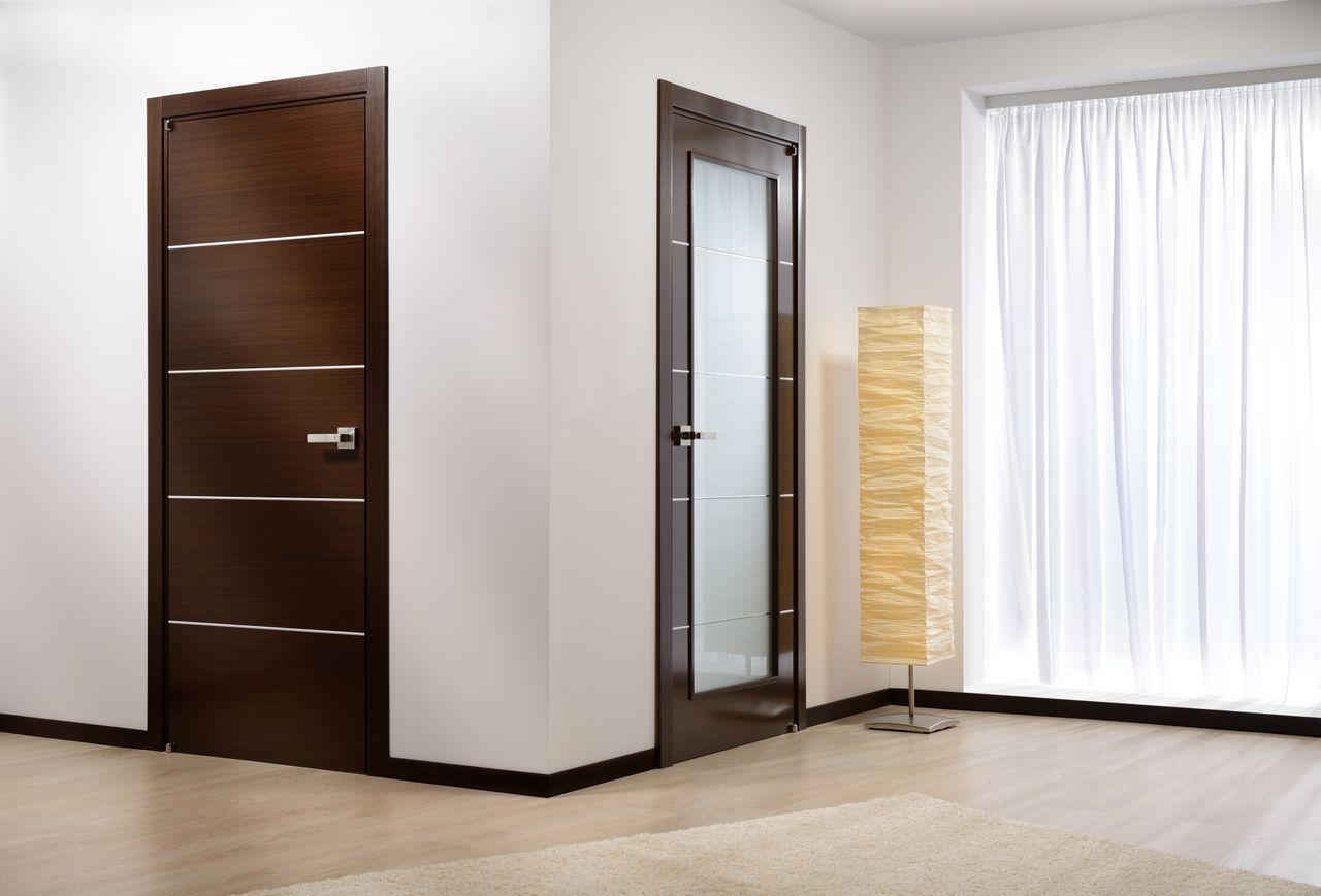 Лаконичный дизайн двери в стиле модерн