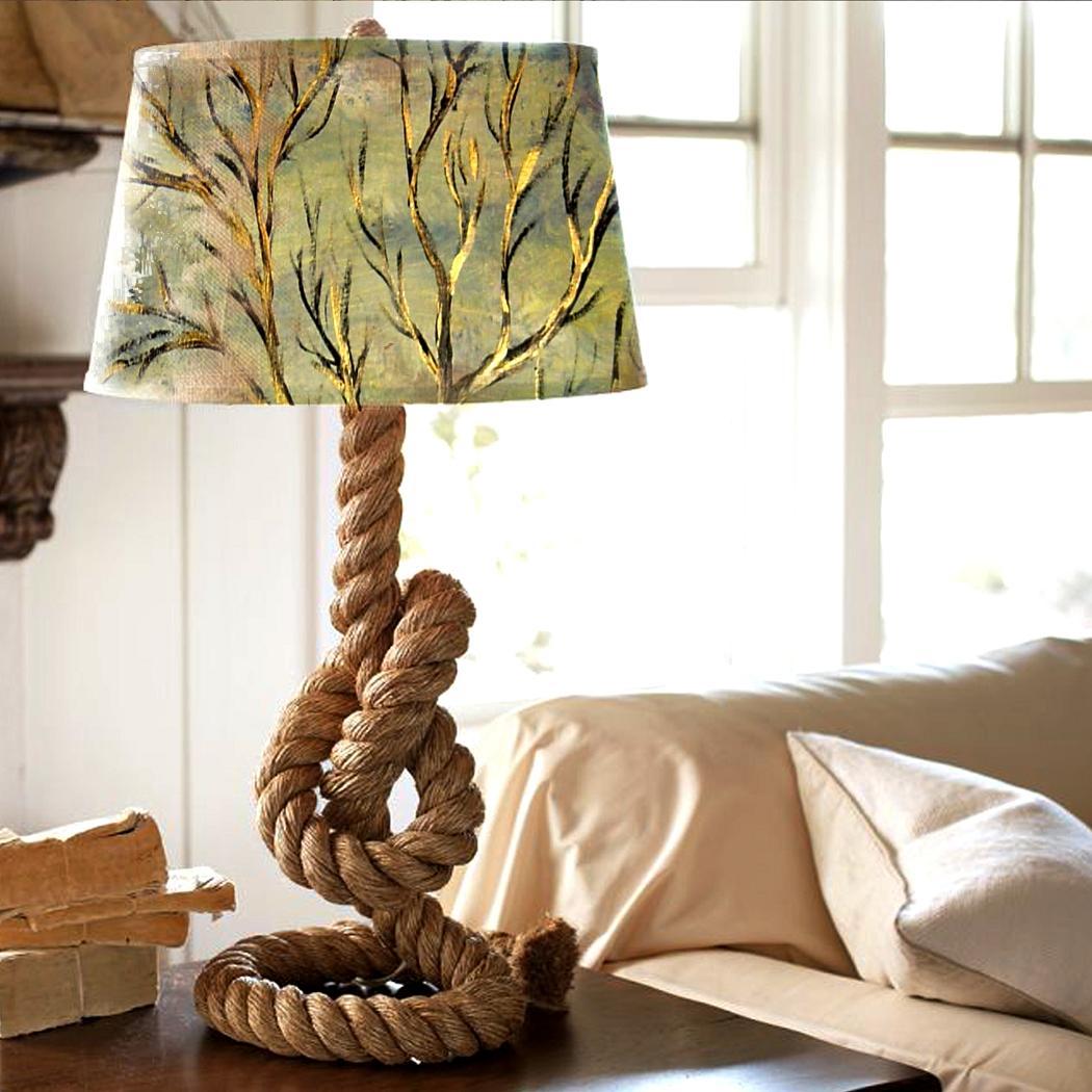 Лампа из декоративного каната