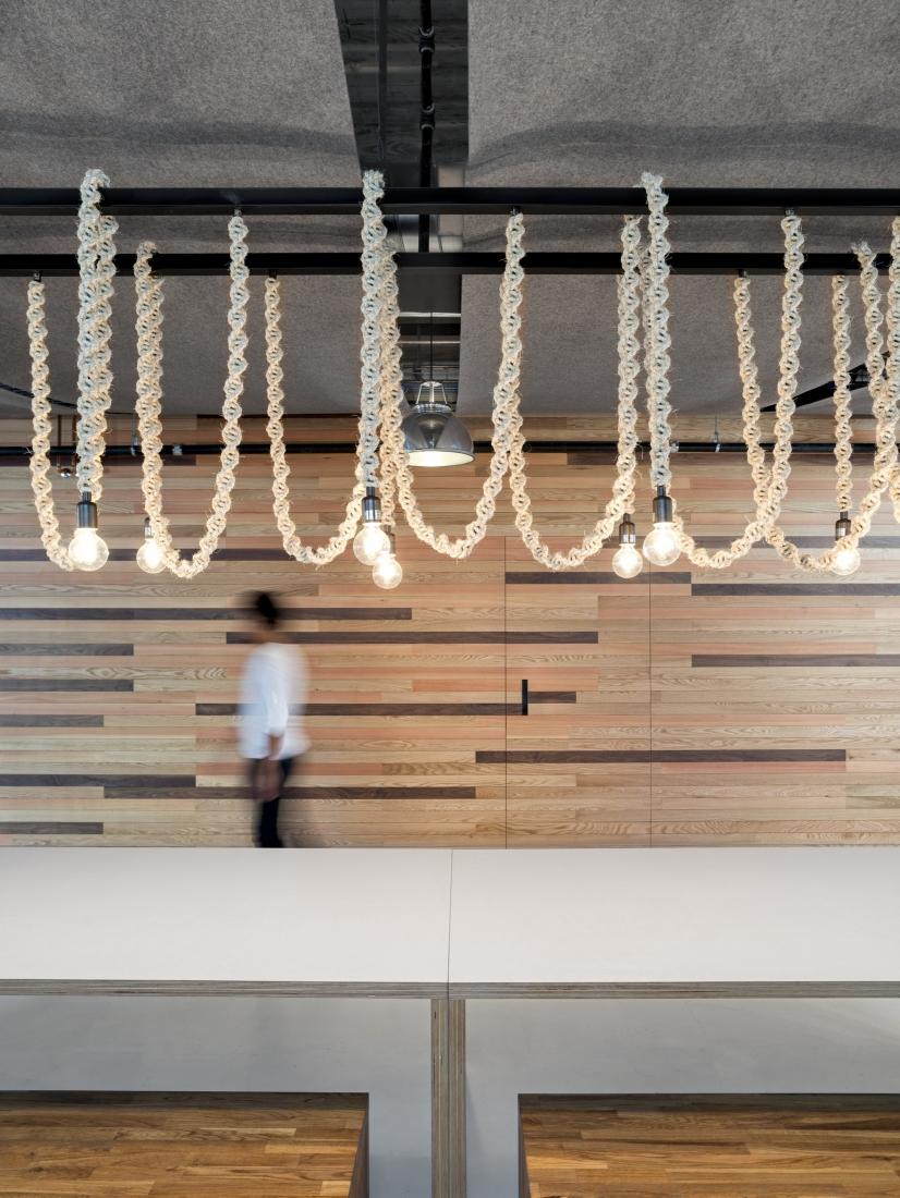 Подвесные лампы на декоративном канате