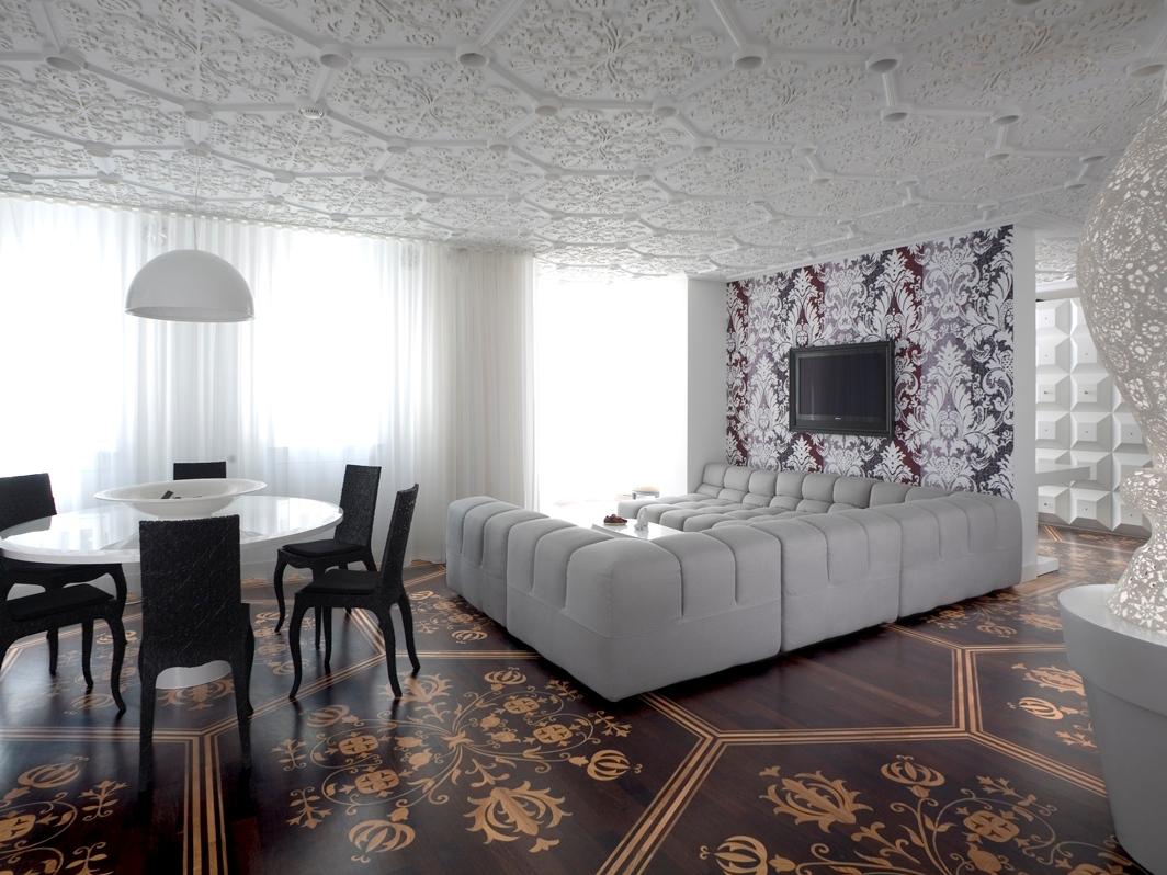3d-потолок с лепниной