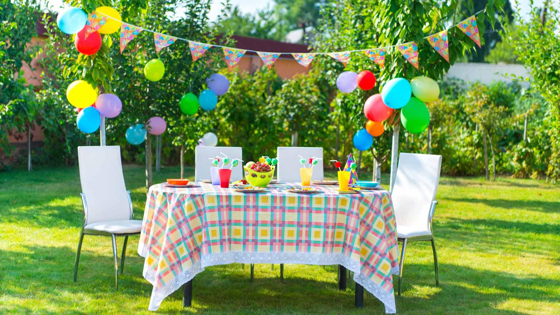 Украшение детского праздничного стола летнего