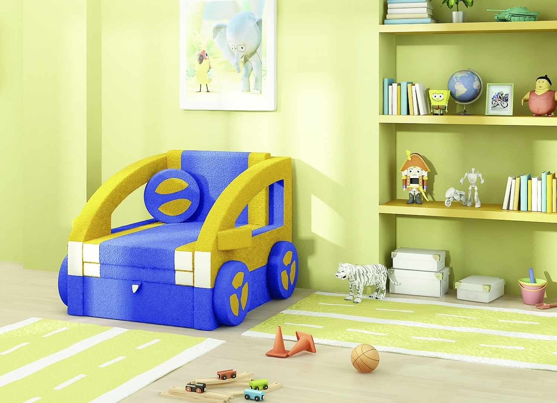Детское кресло-кровать в виде машины