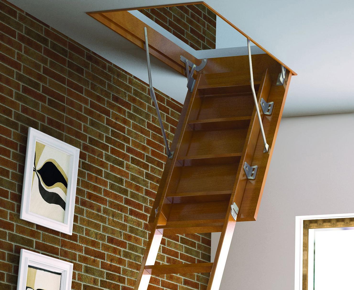 Чердачная лестница из МДФ
