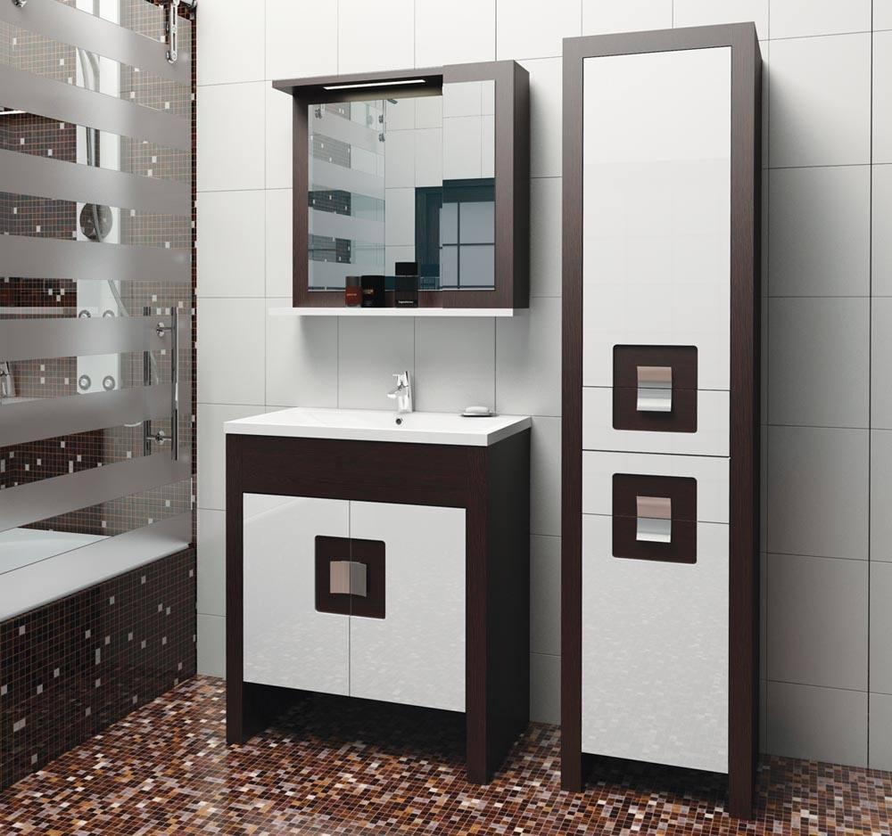 Пенал из МДФ для ванной комнаты