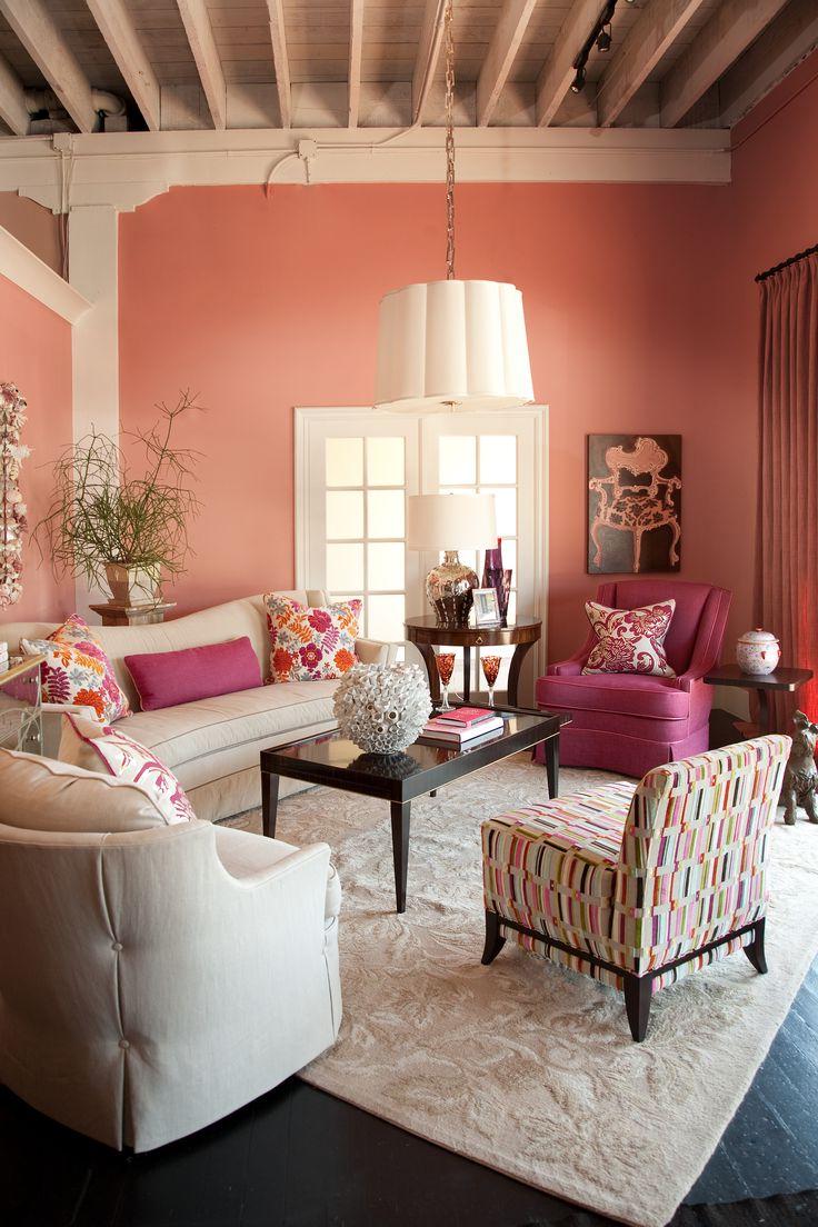Мебель малинового цвета в интерьере