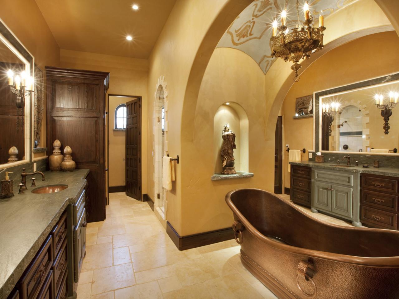 Ванна из меди в тосканском стиле