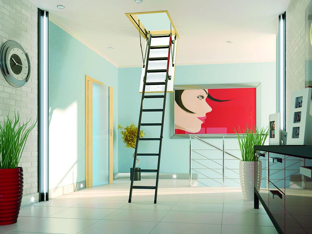 Чердачная лестница из металла
