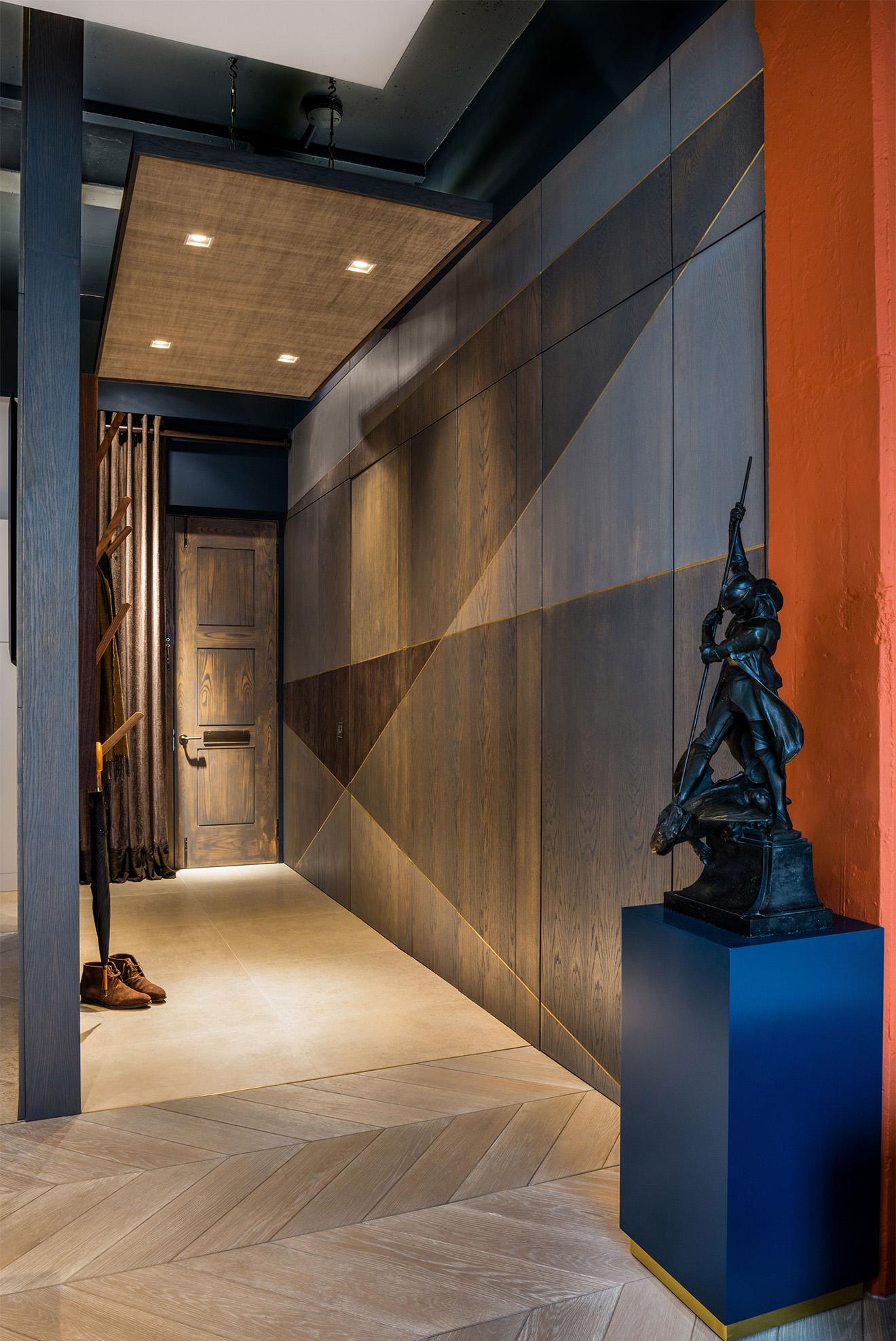 Стеновые панели в стиле модерн в прихожей