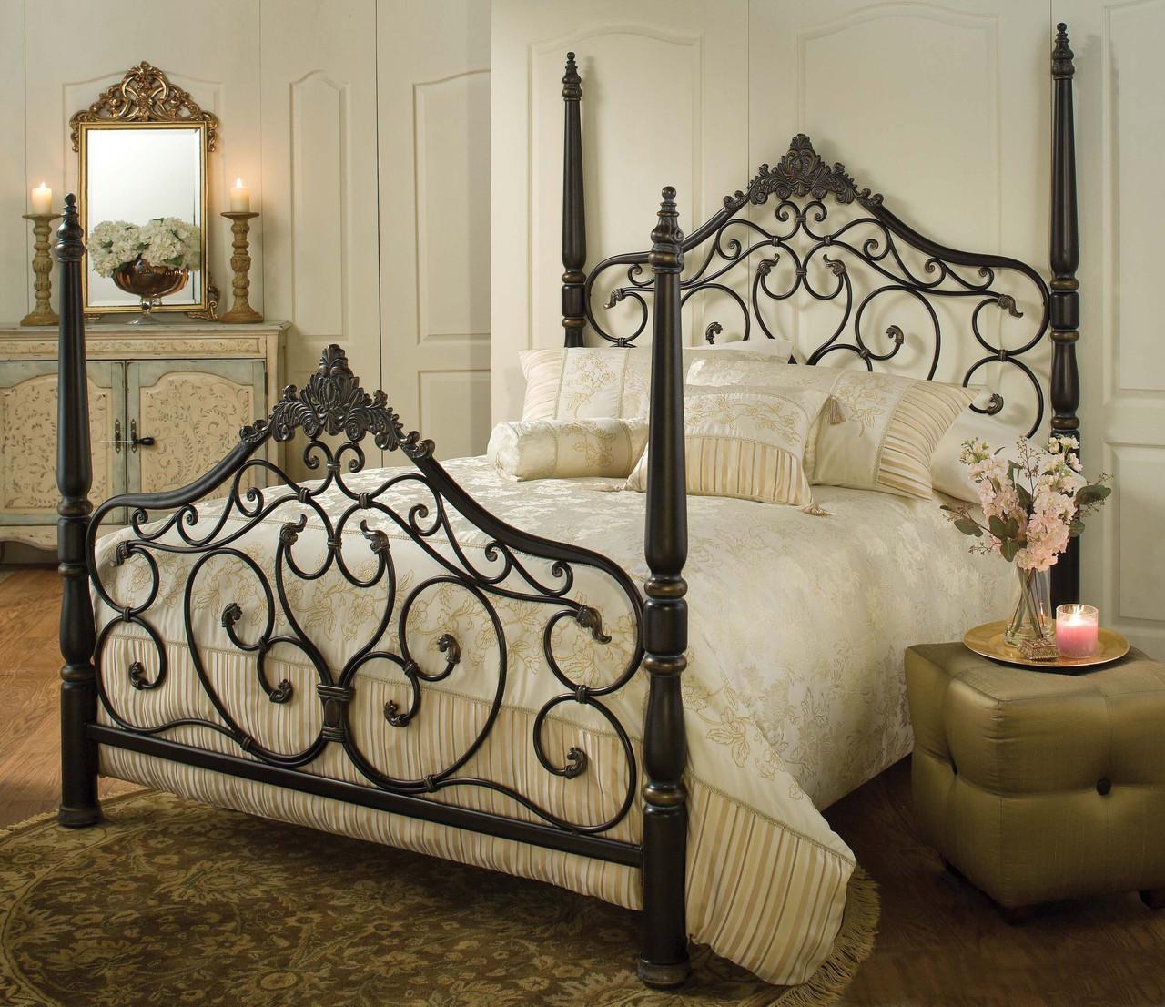 Металлическая кровать в стиле модерн