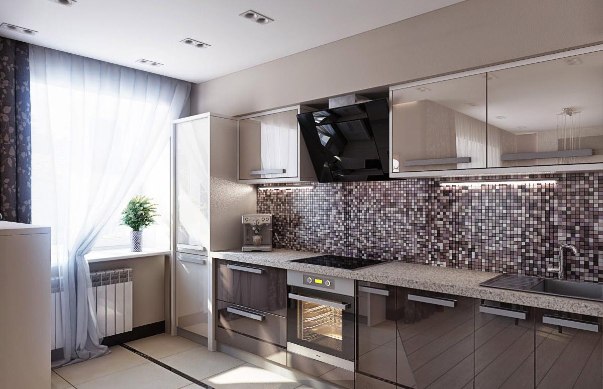 Мозаика на кухне в стиле модерн
