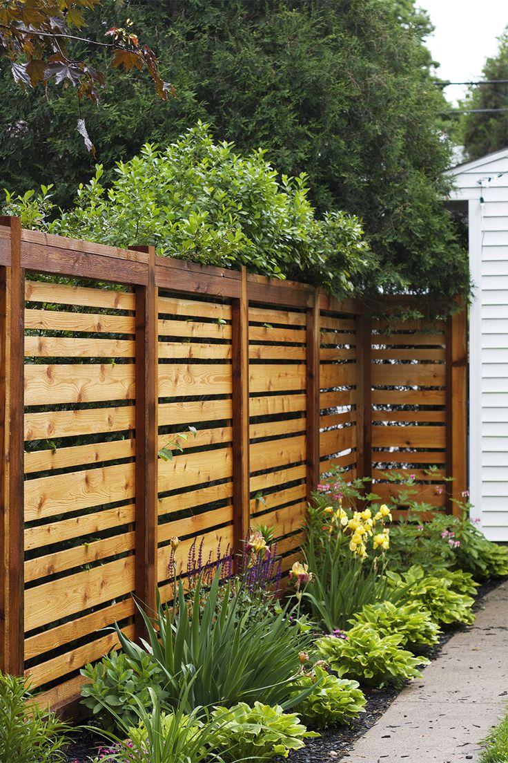 Деревянный забор в стиле модерн