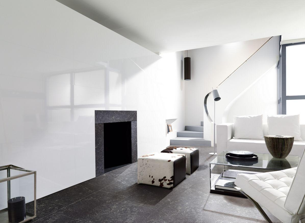 Лаппатированная плитка в стиле модерн