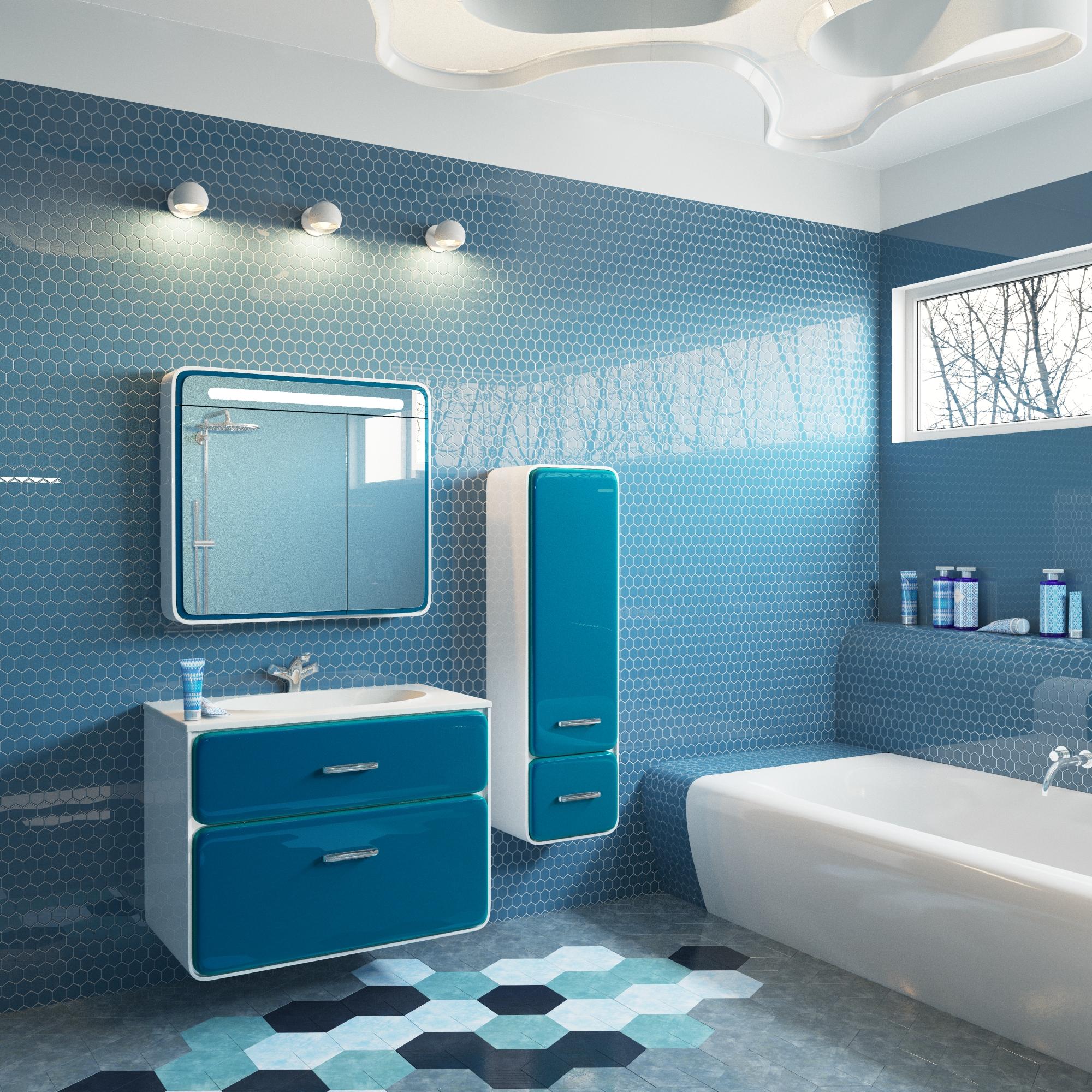 Пенал для ванной в стиле модерн
