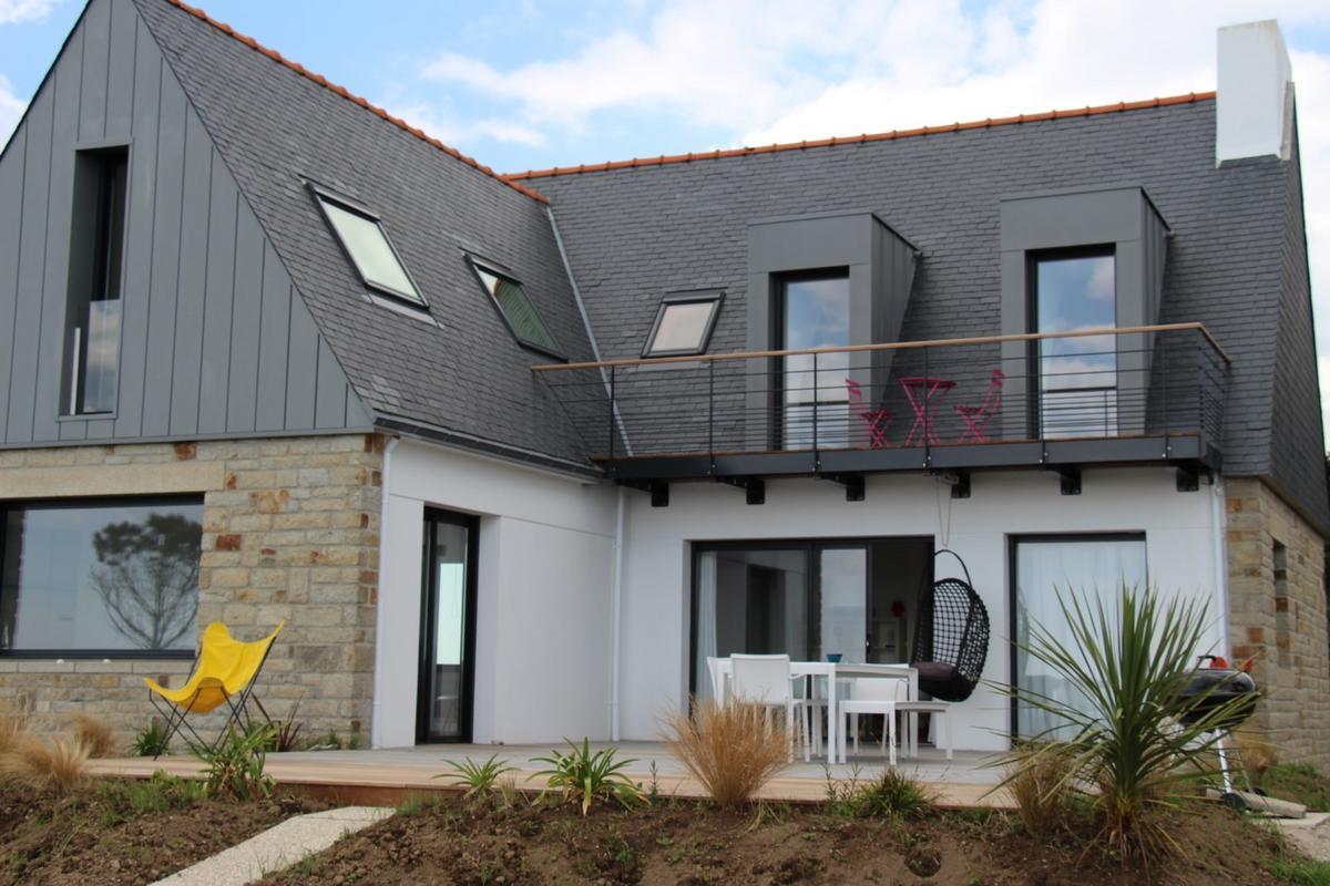 Крыша с мансардой модерн