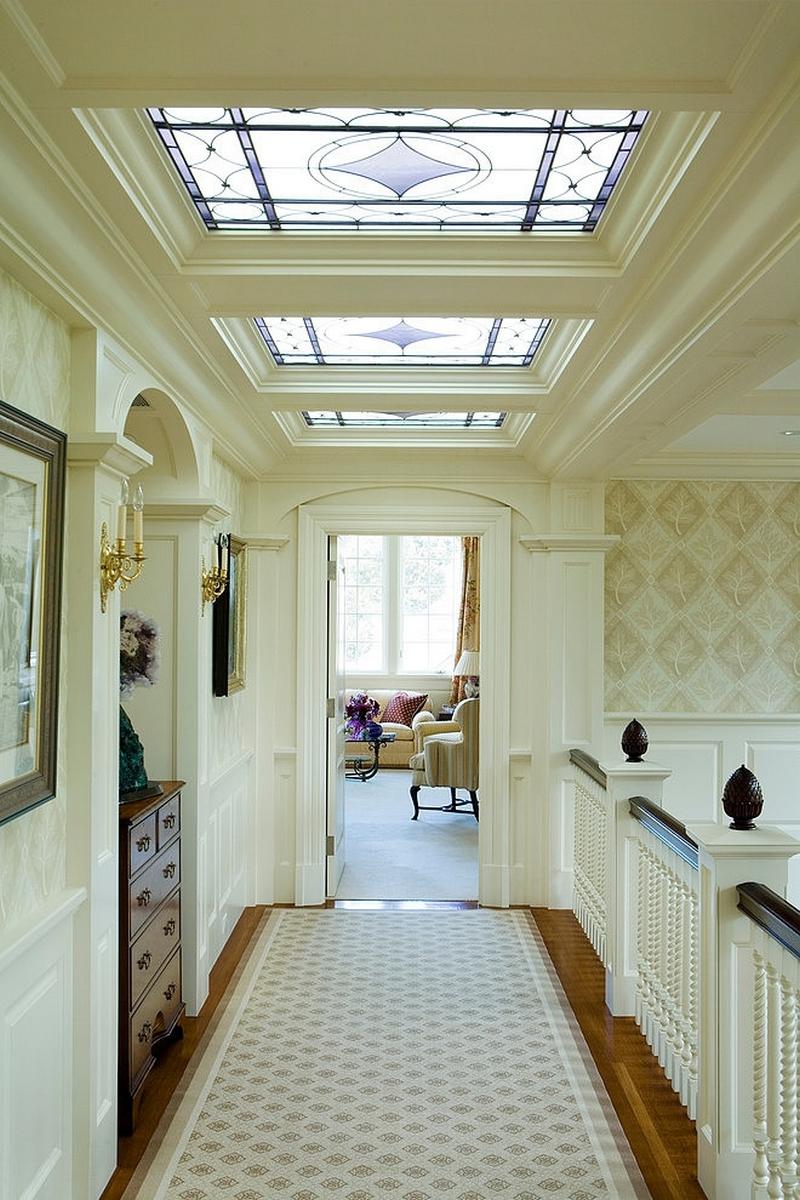 Витражный потолок в стиле модерн