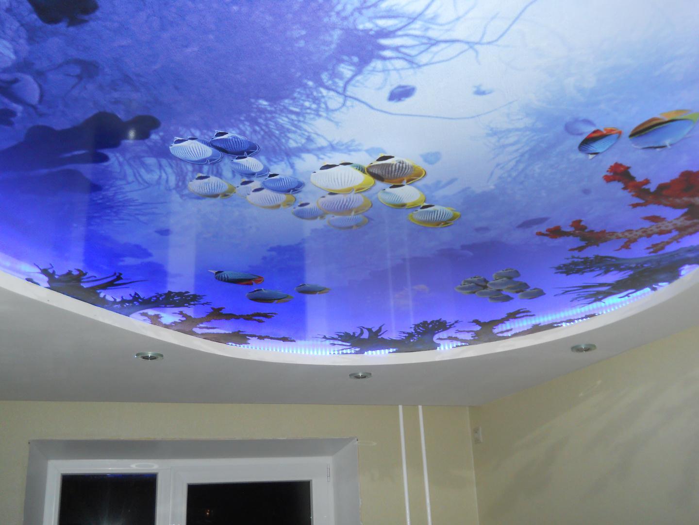 3d-потолок в морском стиле