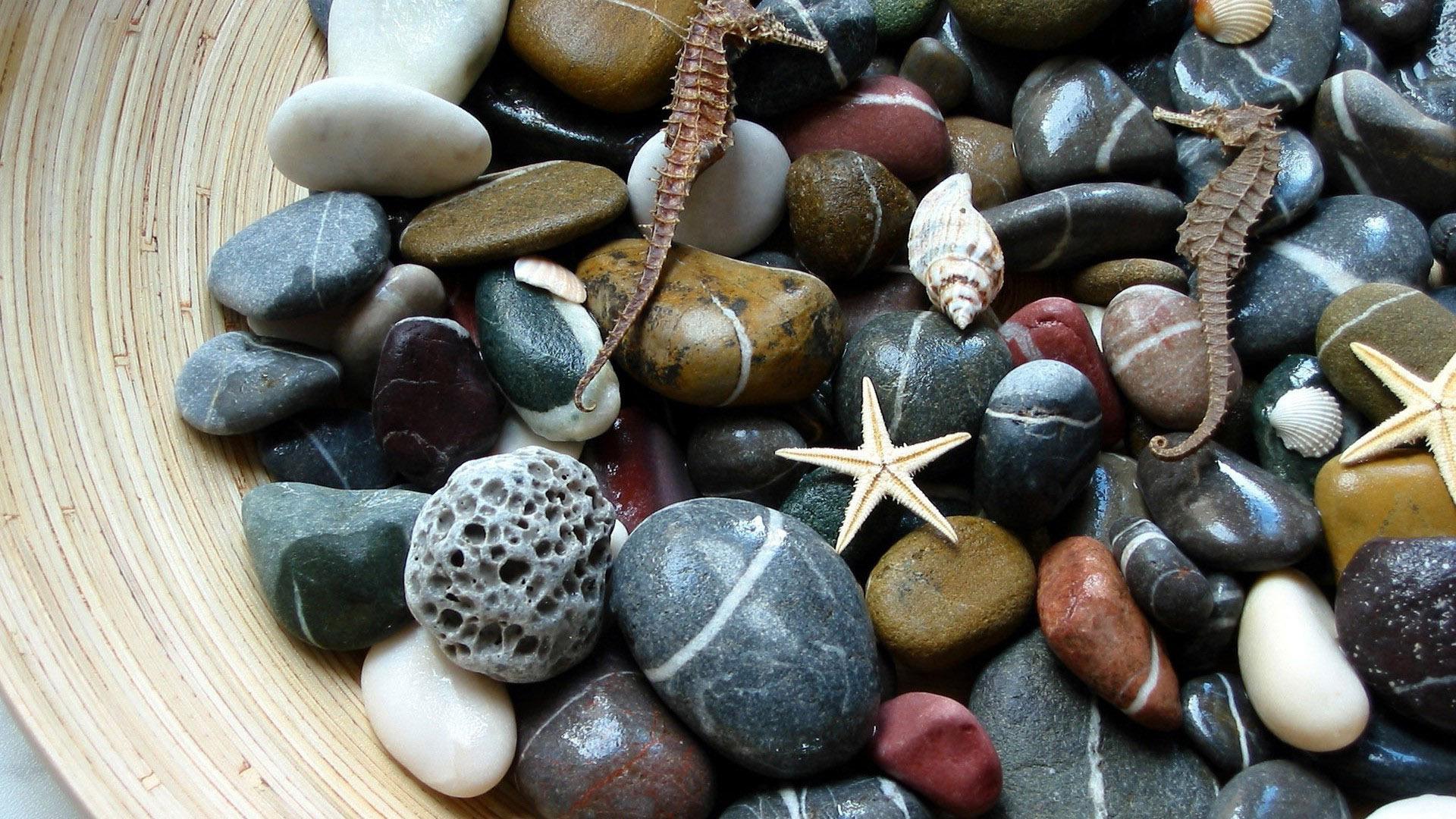 Морской декор из камней