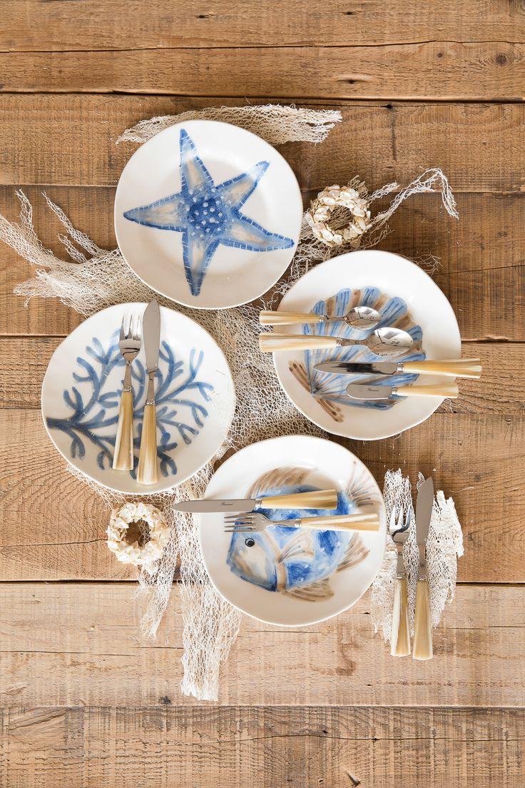 Посуда из фарфора в морском стиле