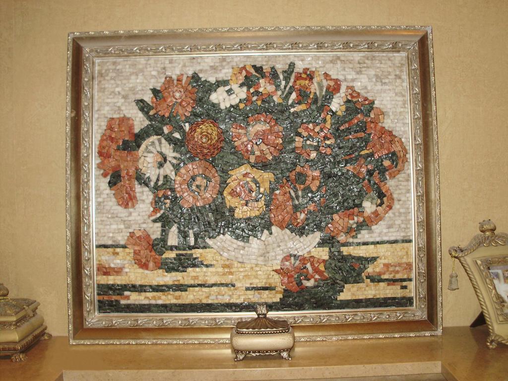 Объемная картина из мозаики