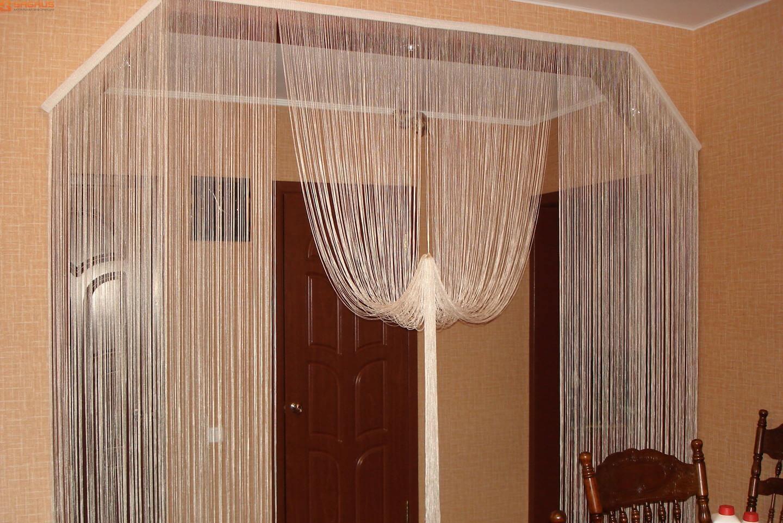 Нитяные межкомнатные шторы