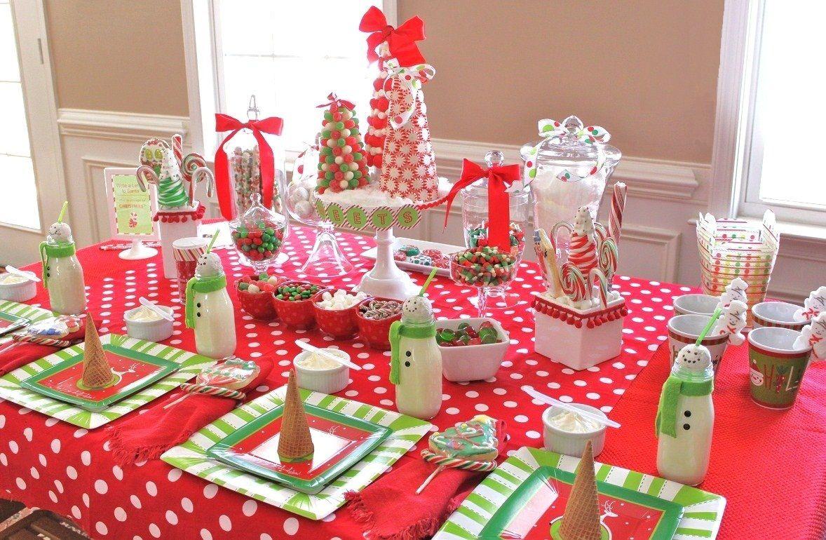 Украшение детского праздничного стола новогоднего