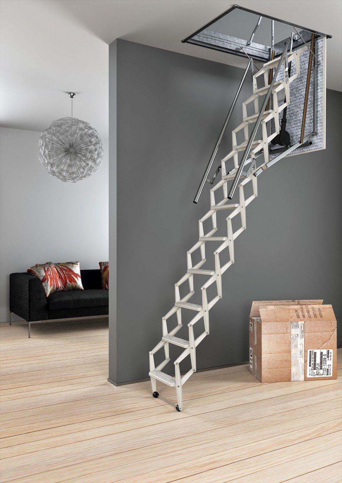 Ножничная чердачная лестница