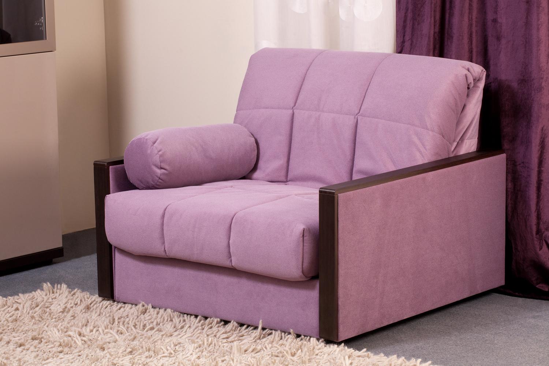 Кресло-кровать в велюровой обивке