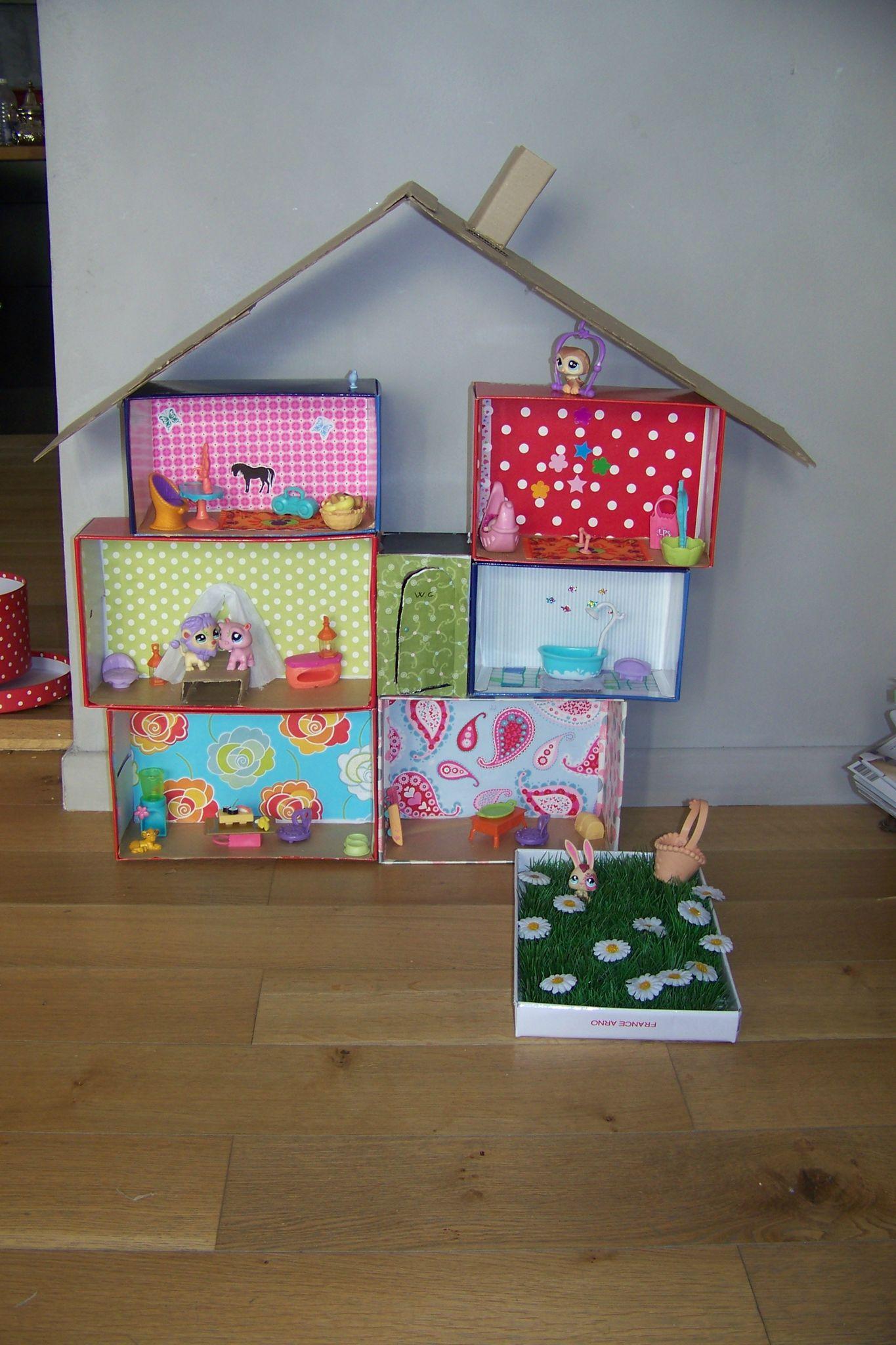 Кукольный домик из обувных коробок