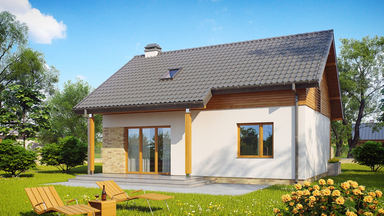 Проект одноэтажного дома из пеноблоков
