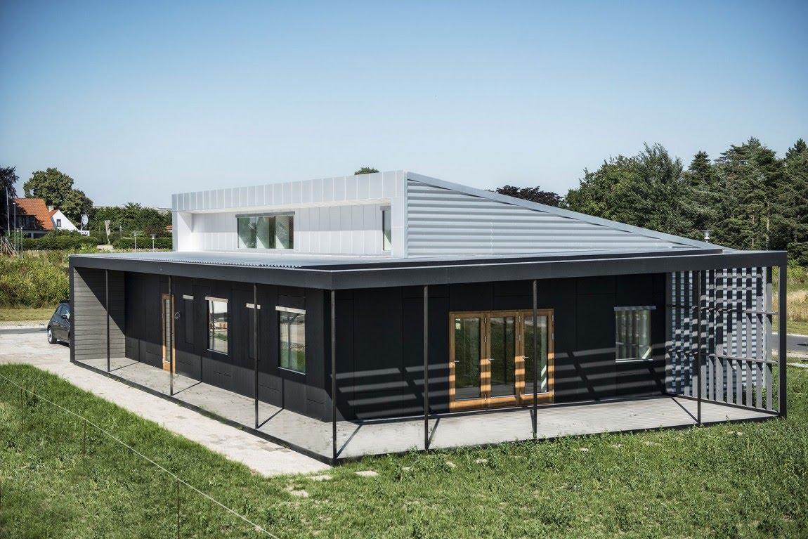 Одноэтажный дом из контейнеров
