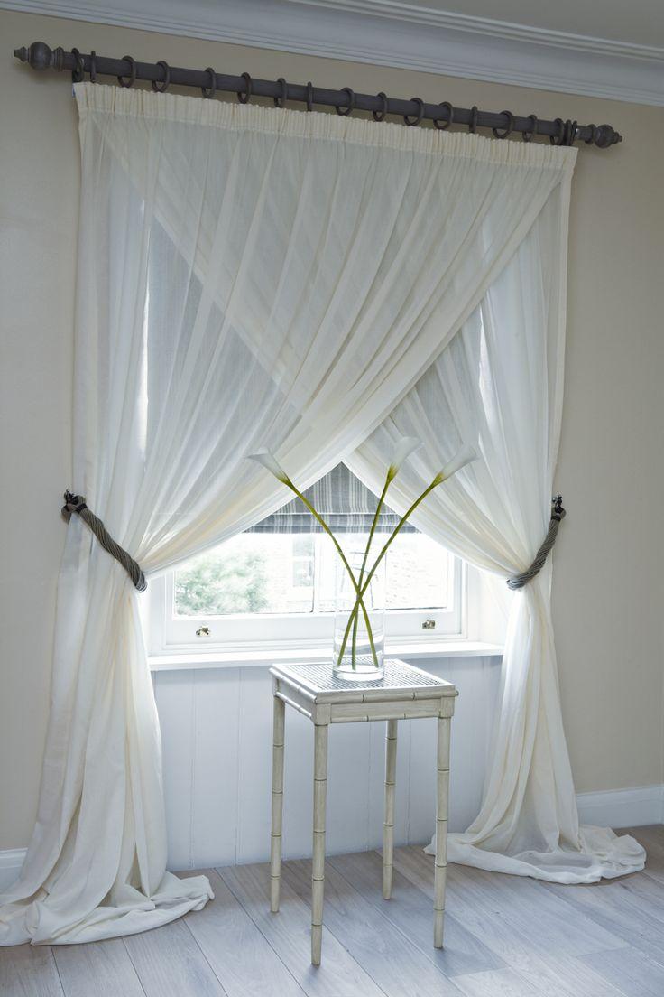 Белые шторы из органзы